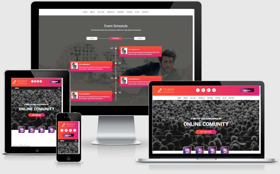 Tevent - Event Conference & Meetup HTML Template - 1